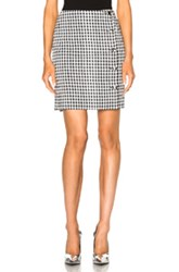 Altuzarra Dean Skirt In Black White Checkered And Plaid Black White Checkered And Plaid