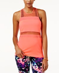 Material Girl Active Juniors' Mesh Inset Tank Top Only At Macy's Peachtini