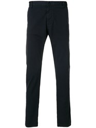 Emporio Armani Elasticated String Cropped Trousers Blue