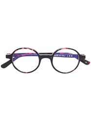 L.G.R Reunion Round Frame Glasses Red