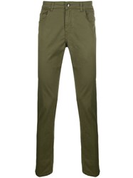 Fay Slim Fit Chinos Green