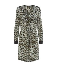 Juicy Couture Leopard Print Shirt Dress Multi