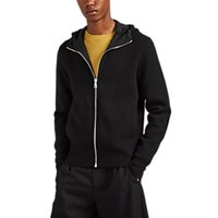 Prada Double Faced Wool Cashmere Hoodie Charcoal