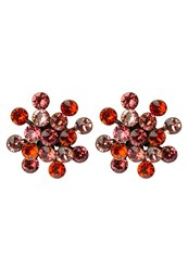 Konplott Magic Fireball Earrings Coralline Orange Antique Red
