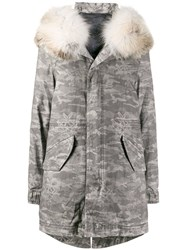Mr And Mrs Italy Camouflage Print Down Parka 60