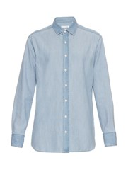 Rag And Bone Boyfriend Denim Shirt Light Blue