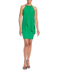 Jessica Simpson Rhinestone Accented Shift Dress Green