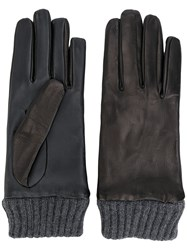 Diesel Ribbed Detail Gloves Black