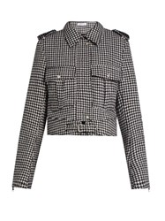 J.W.Anderson Hound's Tooth Wool Blend Jacket Black White