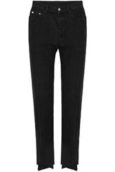 Vetements Levi's Two Tone High Rise Straight Leg Jeans Black