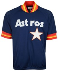 Mitchell And Ness Men's Craig Biggio Houston Astros Bp Mesh Jersey Top Navy Red Yellow