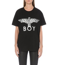 Boy London Metallic Eagle Logo T Shirt Black