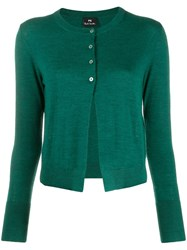 Paul Smith Ps Round Neck Cardigan Green