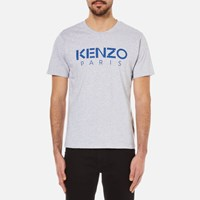 Kenzo Men's Paris Logo T Shirt Silver Grey