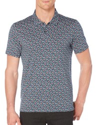 Perry Ellis Pima Cotton Floral Polo Ink