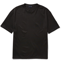 Lanvin Satin Jersey T Shirt Black
