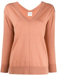 Forte Forte Knitted V Neck Long Sleeve Top 60