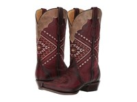 Roper Native Red Leather Cowboy Boots