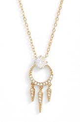 Nadri Women's Gwen Crystal Pendant Necklace Gold