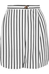 Mcq By Alexander Mcqueen Wrap Effect Striped Twill Shorts White