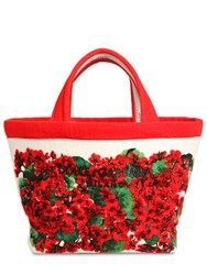 Dolce And Gabbana Escape Printed Cotton Terry Tote Bag Geranei
