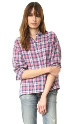 The Great Big Shirt Washed Cherry Plaid