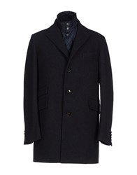 Henry Cotton's Coats And Jackets Coats Men Dark Blue