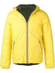 K Way Reversible Down Jacket Yellow And Orange