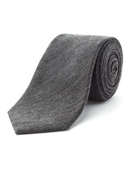Racing Green Spencer Herringbone Tie Charcoal
