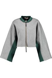 Marni Two Tone Neoprene Sweatshirt Gray