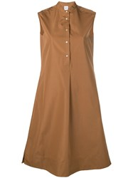 Aspesi Midi Shirt Dress Brown