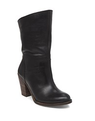 Lucky Brand High Heel Suede Boots Black