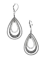 Judith Jack Sterling Silver And Crystal Layered Drop Earrings