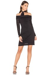 1.State Sheer Stripe Bodycon Dress Black