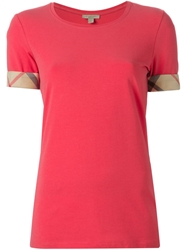 Burberry Brit Slim Fit T Shirt Pink And Purple