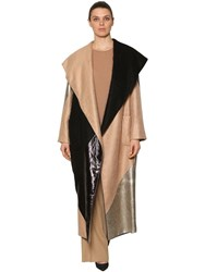 Marina Rinaldi Patchwork Metallic Lurex And Mohair Coat Multicolor