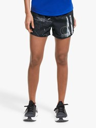 Reebok Workout Ready Knit Woven Training Shorts Black