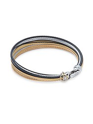 Alor 18K Gold And Stainless Steel Multi Strand Bangle