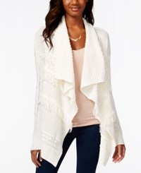 American Rag Mixed Knit Waterfall Cardigan Only At Macy's Egret