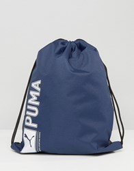 Puma Drawstring Backpack In Blue 7346802 Blue