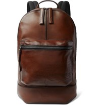 Berluti Volume Large Leather Backpack Tan