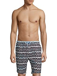 Sovereign Code North Beach Printed Swim Shorts Watercolor