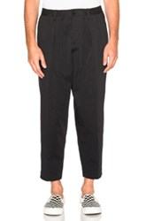 Marni Cotton Wool Gabardine Trousers In Black