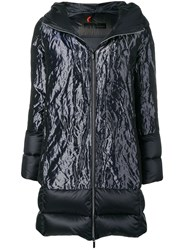 Rrd Hooded Panelled Puffer Jacket Blue