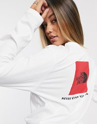 The North Face Box Long Sleeve T Shirt In White