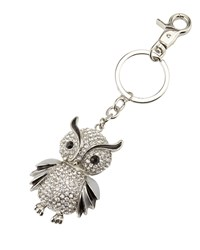Neiman Marcus Crystal Owl Key Chain Black