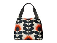 Orla Kiely Summer Flower Stem Classic Zip Shoulder Bag Sunset Shoulder Handbags Multi