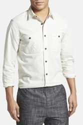 Wallin And Bros 'Workwear' Trim Fit Chambray Sport Shirt White