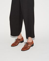 Proenza Schouler Eyelet Oxford Crosta Velour Whisky
