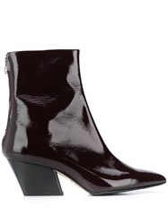 Aeyde Pointed Patent Ankle Boots 60